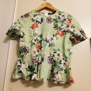 Zara woman floral top